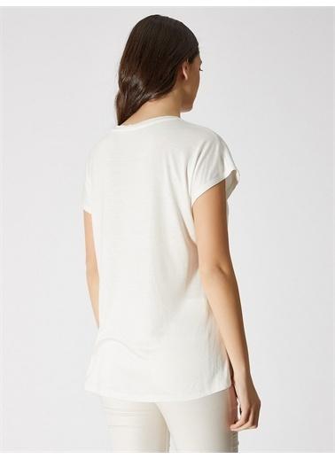 Vekem-Limited Edition Sıfır Yaka Japone Kol Bluz Beyaz